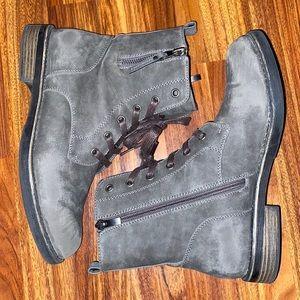 Lime Light   Combat Boots   Womens